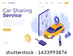 car sharing service concept....   Shutterstock .eps vector #1633993876