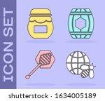 set honeycomb map of the world... | Shutterstock .eps vector #1634005189