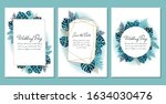colorful greeting card with... | Shutterstock .eps vector #1634030476