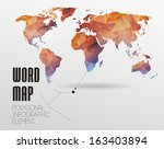 world map background in... | Shutterstock .eps vector #163403894