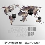 world map background in... | Shutterstock .eps vector #163404284