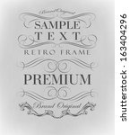 calligraphic design elements | Shutterstock .eps vector #163404296