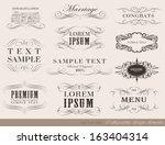 vector set of calligraphic... | Shutterstock .eps vector #163404314