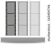 set of films pattern vector... | Shutterstock .eps vector #163404746