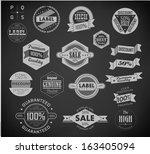 set of vintage retro labels | Shutterstock .eps vector #163405094