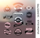transparent premium and high... | Shutterstock .eps vector #163405790