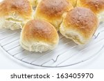White Bread Rolls Fresh From...