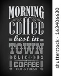 poster lettering take coffee ... | Shutterstock .eps vector #163406630