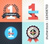 flat design number one first... | Shutterstock .eps vector #163408703