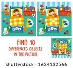 adorable little boy sleeping in ... | Shutterstock .eps vector #1634132566