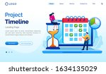 project timeline landing page...