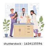 veterinary office vector... | Shutterstock .eps vector #1634135596