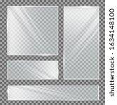 glass plate on transparent... | Shutterstock .eps vector #1634148100