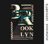 brooklyn new york city abstract ... | Shutterstock .eps vector #1634148976