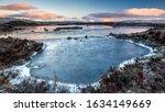 Sunrise Over A Frozen Lochan Na ...