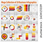 mega collection  infographic... | Shutterstock .eps vector #163415339