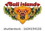 traditional balinese barong... | Shutterstock .eps vector #1634154133