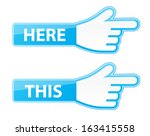 mouse hand cursor vector this... | Shutterstock .eps vector #163415558