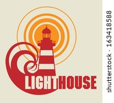 lighthouse icon or sign  vector ... | Shutterstock .eps vector #163418588