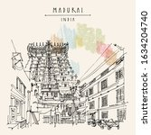 madurai  tamil nadu  south... | Shutterstock .eps vector #1634204740
