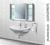 3d realistic vector bathroom... | Shutterstock .eps vector #1634209870