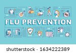 flu prevention word concepts...