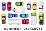 cars and trucks top view vector ...   Shutterstock .eps vector #1634225263