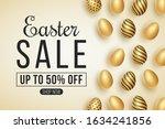 web banner for easter big sale. ... | Shutterstock .eps vector #1634241856