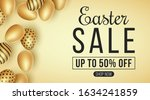 easter big sale. holiday... | Shutterstock .eps vector #1634241859