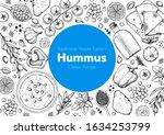 hummus cooking and ingredients... | Shutterstock .eps vector #1634253799