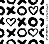 xoxo seamless pattern. vector... | Shutterstock .eps vector #1634260636