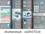 vector infographic composition. | Shutterstock .eps vector #163427210