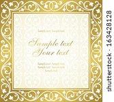 floral invitation card.  | Shutterstock .eps vector #163428128