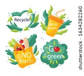 hand drawing ecology badges... | Shutterstock .eps vector #1634282260