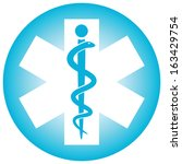 medical symbol caduceus snake... | Shutterstock .eps vector #163429754