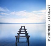 Wooden Pier Or Jetty Remains O...