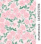 vintage floral background.... | Shutterstock .eps vector #1634321506
