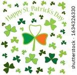 happy saint patrick's day card. ... | Shutterstock .eps vector #1634326330
