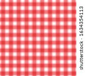 checkered red and white check... | Shutterstock .eps vector #1634354113