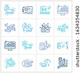 finance icon set and bonus card ...