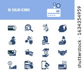 finance icon set and business...