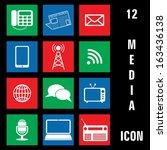 media communication icon. eps 10 | Shutterstock . vector #163436138