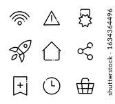 set of basic interface icons....