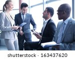 image of business people... | Shutterstock . vector #163437620