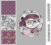 set of vector seamless patterns ... | Shutterstock .eps vector #1634398339