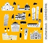 vector illustration of italian... | Shutterstock .eps vector #1634402446