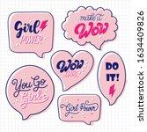 set of woman motivational... | Shutterstock .eps vector #1634409826