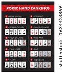 poker hand rankings combination ... | Shutterstock .eps vector #1634423869