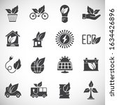 eco friendly related icons set...   Shutterstock .eps vector #1634426896