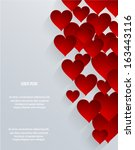 abstract 3d hearts background....   Shutterstock .eps vector #163443116